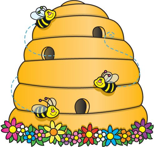 Cartoon Pictures Of Bee Hives