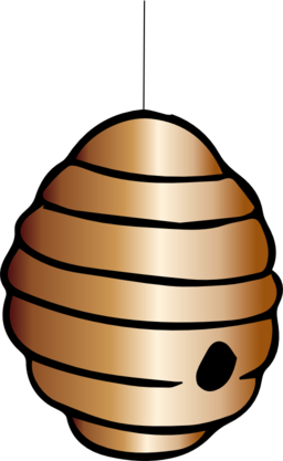 256x417 Bee Hive Clipart Cartoon