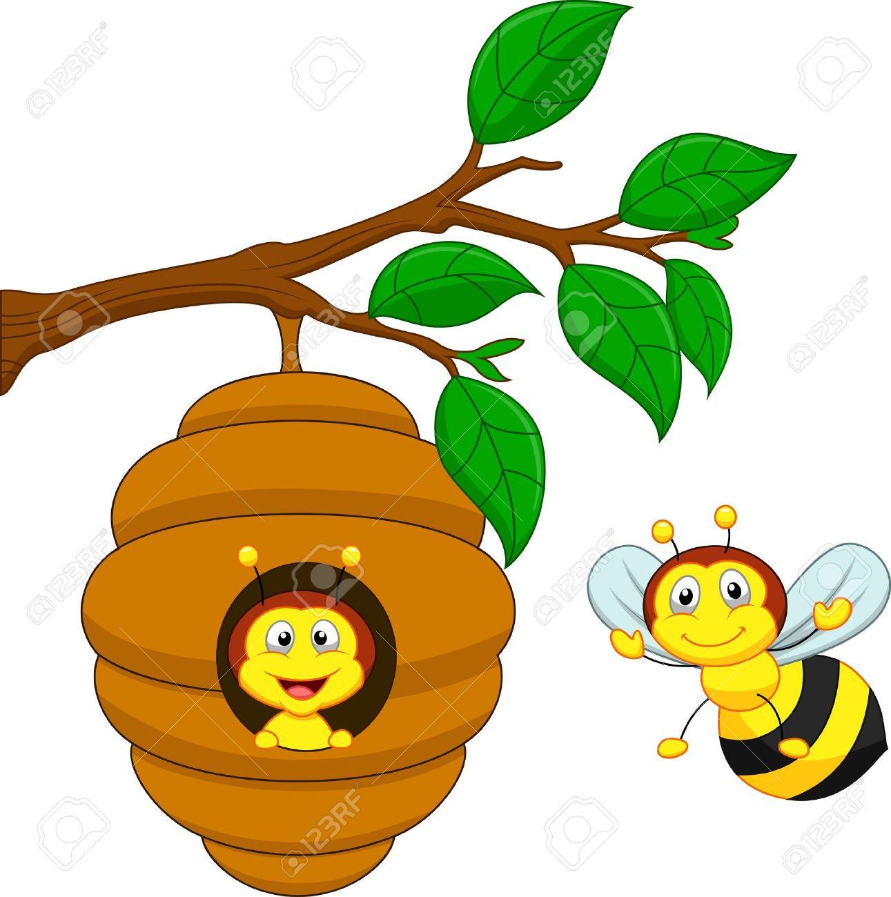 1291x1300 Cartoon A Honey Bee Comb Royalty Free Cliparts, Vectors,