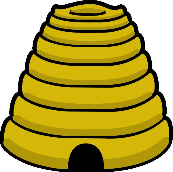 600x597 Bee Hive Clip Art