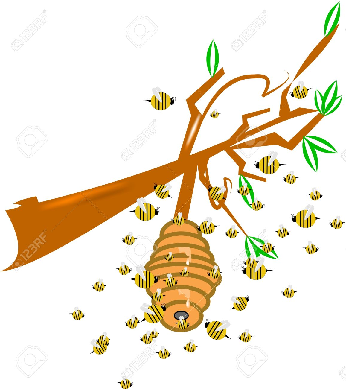 1157x1300 Bee Hive Clipart Bee Swarm
