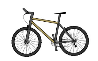 320x200 Bicycle Clipart Cartoon