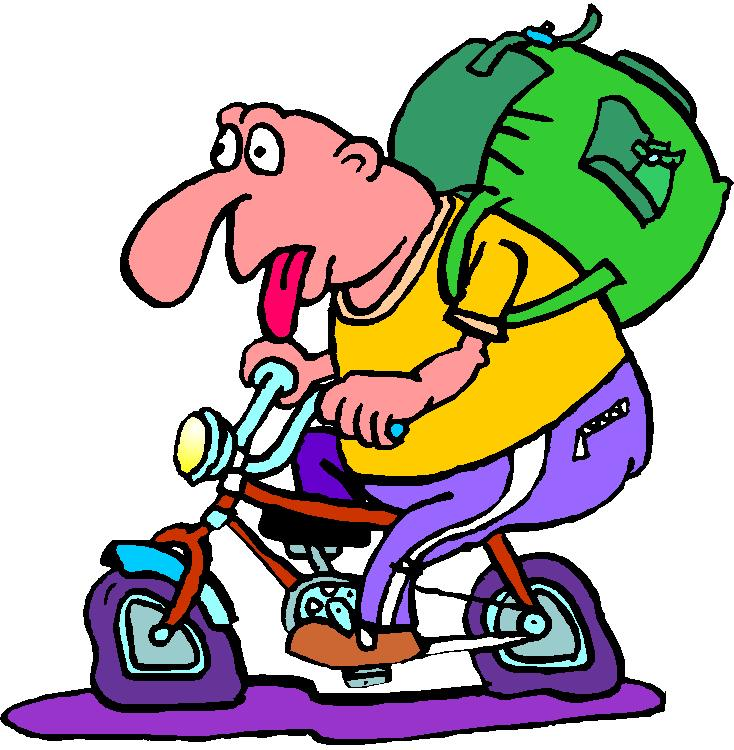 734x750 Funny Bicycle Clip Art Picture
