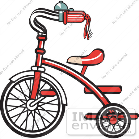 450x450 Royalty Free Cartoon Clip Art Of A New Trike Bike With A Bell