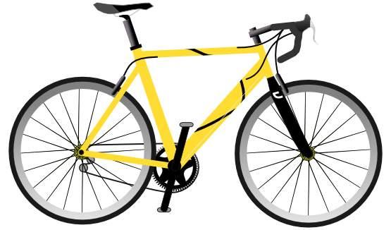 555x326 Yellow Bicycle Clip Art