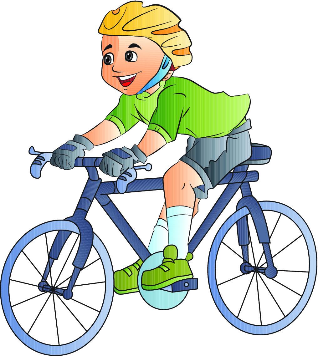 1016x1138 Boy Riding Bikes Clipart