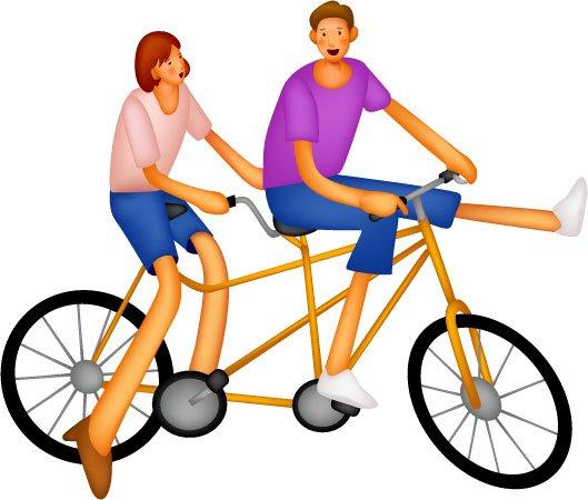 529x450 Cartoon Bike Rider