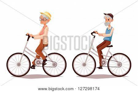 450x300 Mature Couple Riding Bikes, Cartoon Image Amp Photo Bigstock
