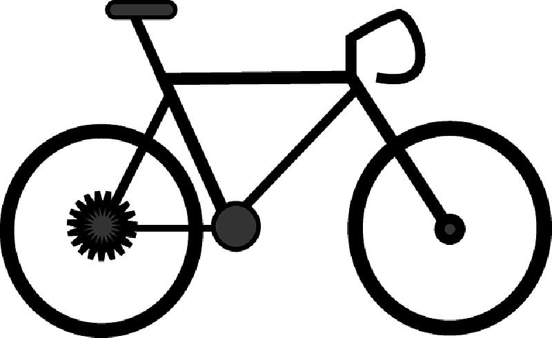 800x490 Two, Outline, Silhouette, Cartoon, Bikes, Bike, Road