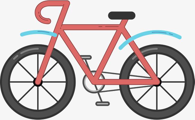 650x401 Red Cartoon Bike, Bike Hand Painted, Cartoon Bikes, Bicycle Png