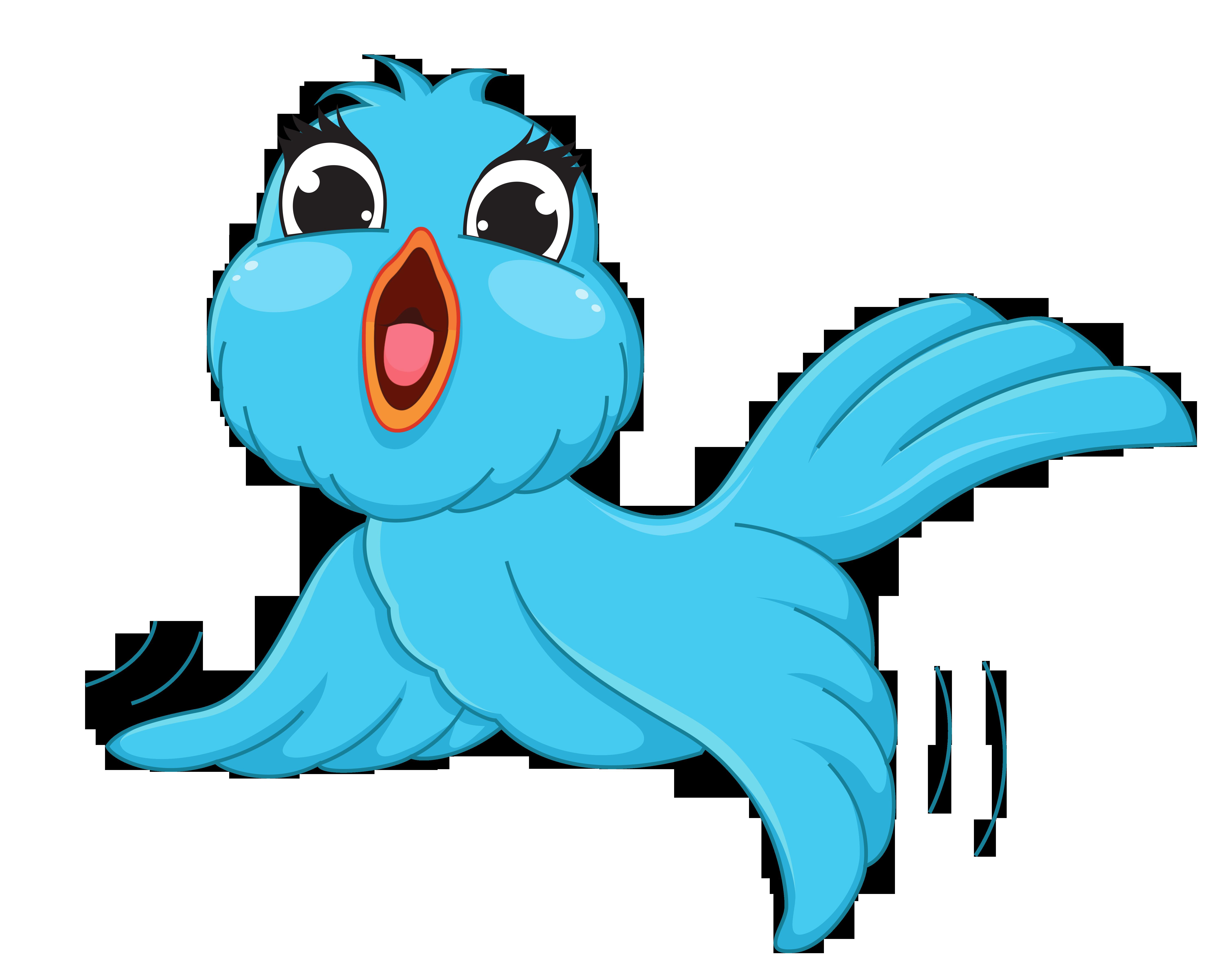6053x4800 Cartoon Bird Clipart