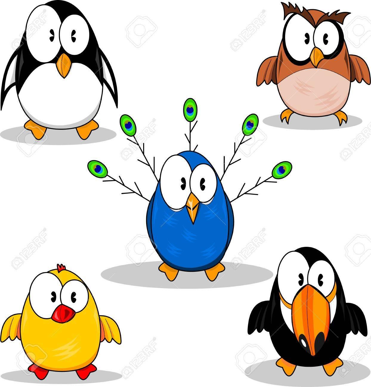 1244x1300 Cartoon Birds Royalty Free Cliparts, Vectors, And Stock