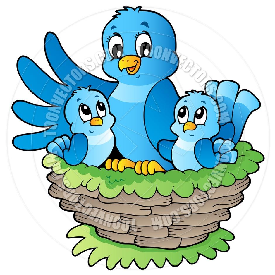 940x940 Cartoon Birds In Nest By Clairev Toon Vectors Eps
