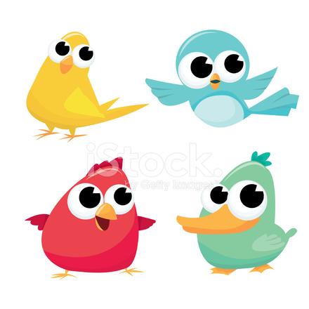 440x440 Cute Cartoon Birds Stock Vector