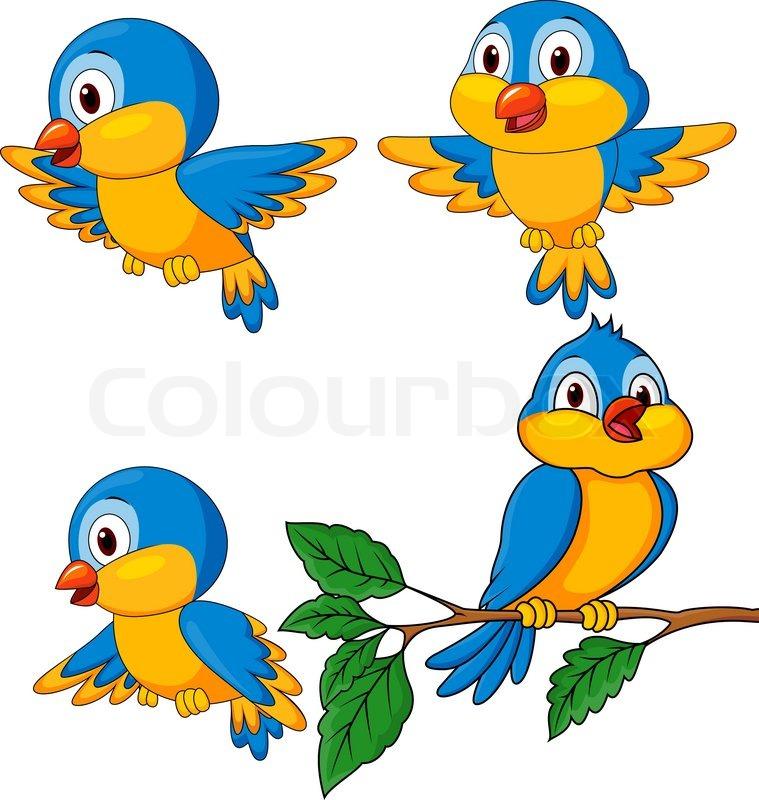 759x800 Vector Illustration Of Bird Cartoon Stock Vector Colourbox