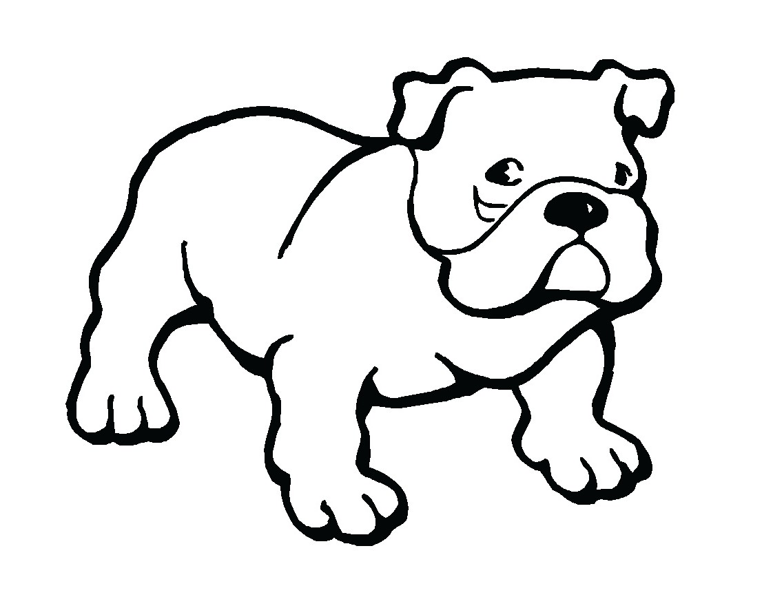 1122x867 Coloring Pages Delightful How To Draw Bulldogs Cartoon Bulldog