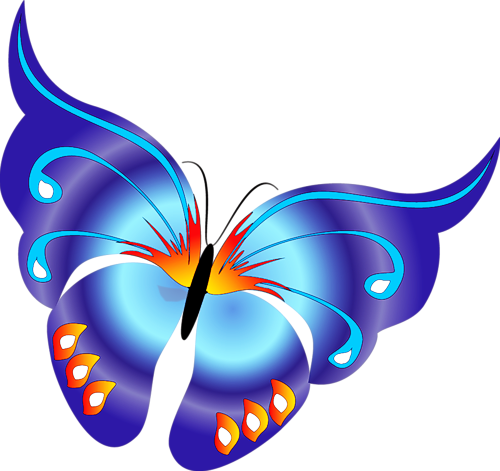 500x471 Cartoon Blue Butterfly Clipartu200b Gallery Yopriceville