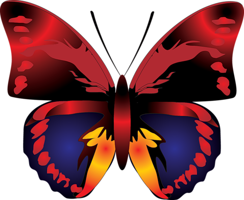 500x409 Cartoon Red Butterfly Clipartu200b Gallery Yopriceville