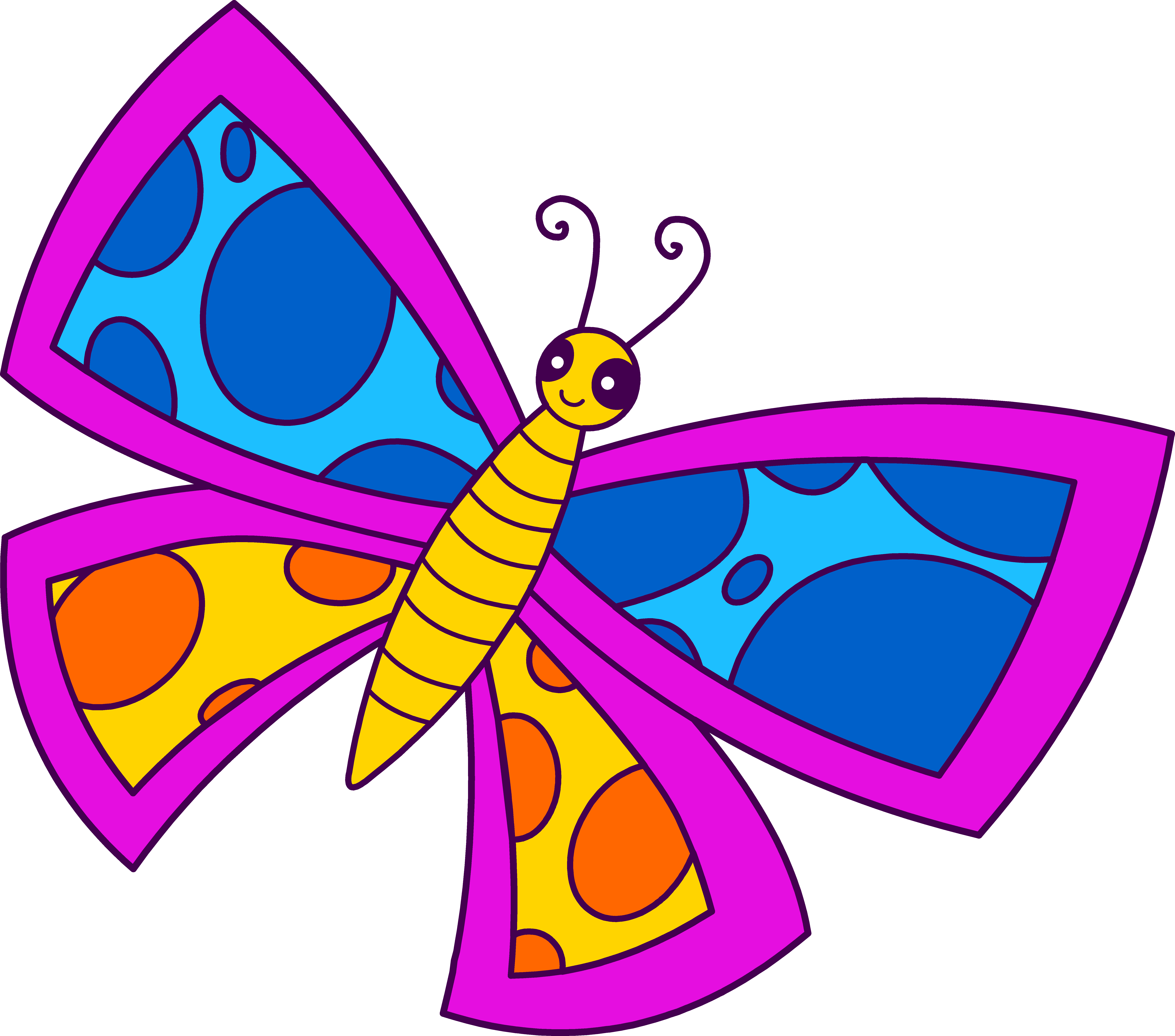 7273x6415 Cute Spotted Neon Butterfly
