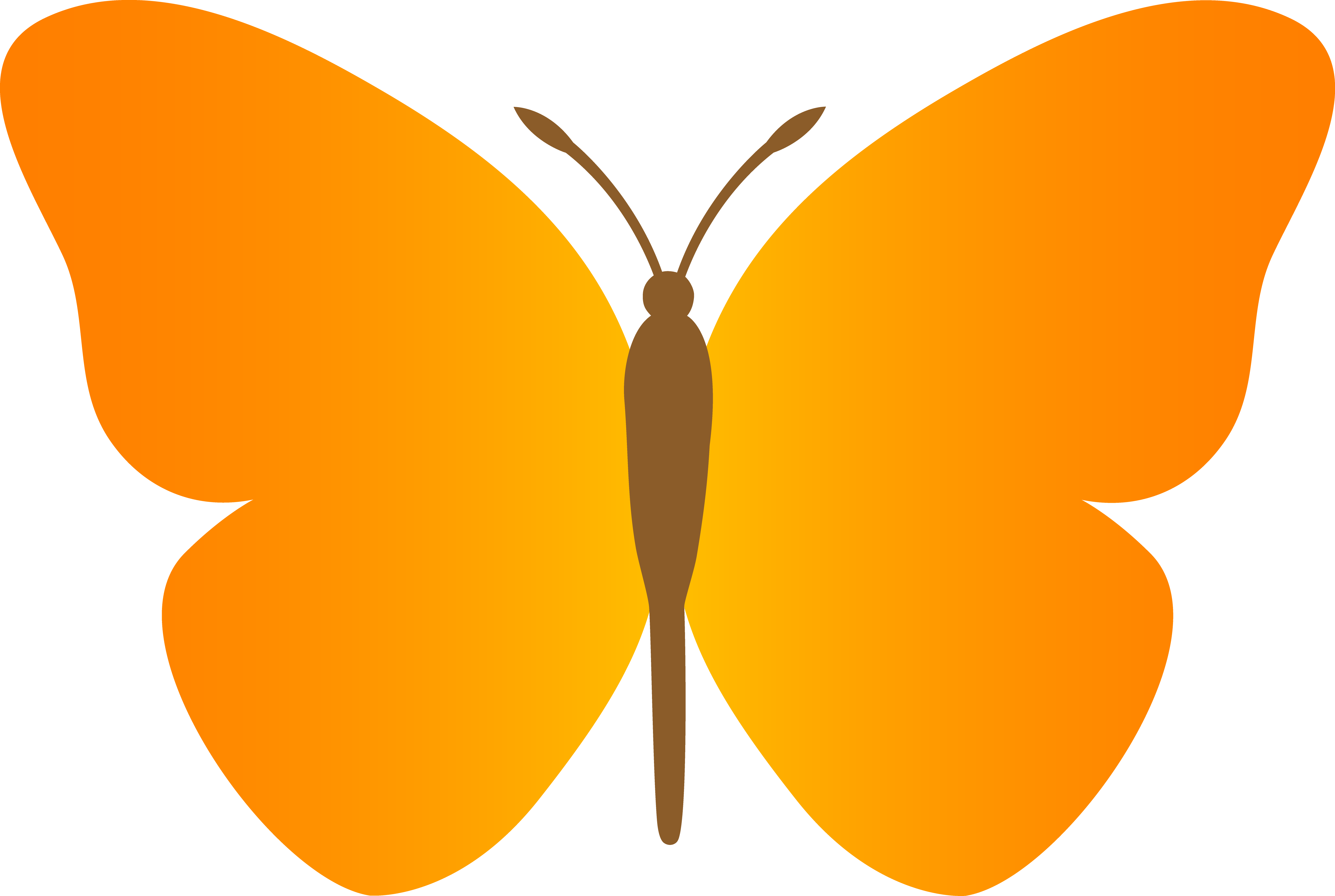5381x3614 Drawn Cartoon Butterfly