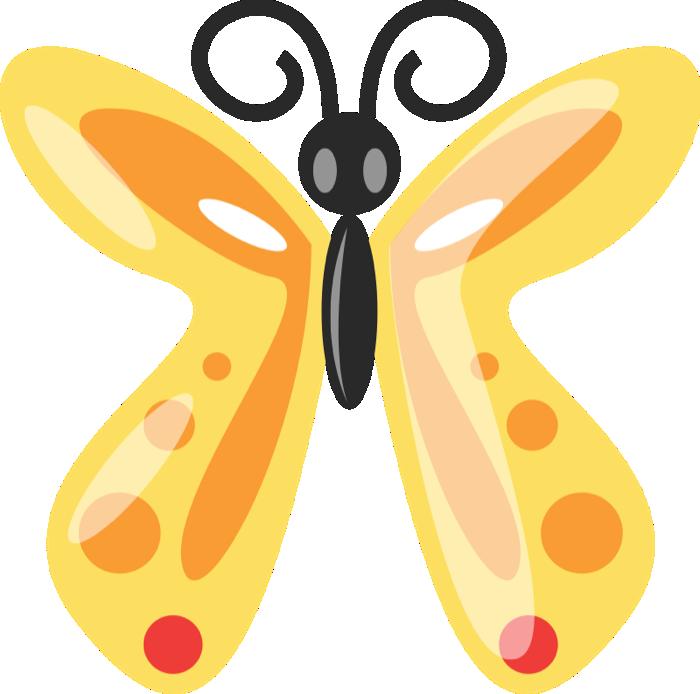 700x694 Free Graphics Of Butterflies