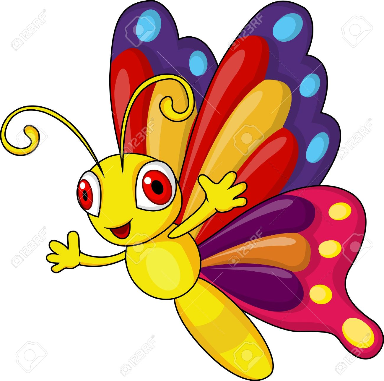 1300x1289 Funny Butterfly Cartoon Royalty Free Cliparts, Vectors, And Stock