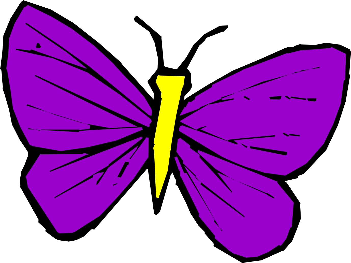 1378x1034 Trend Pictures Of Cartoon Butterflies 97 With Additional Coloring