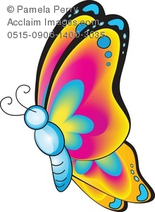 220x300 Art Illustration Of A Cartoon Butterfly