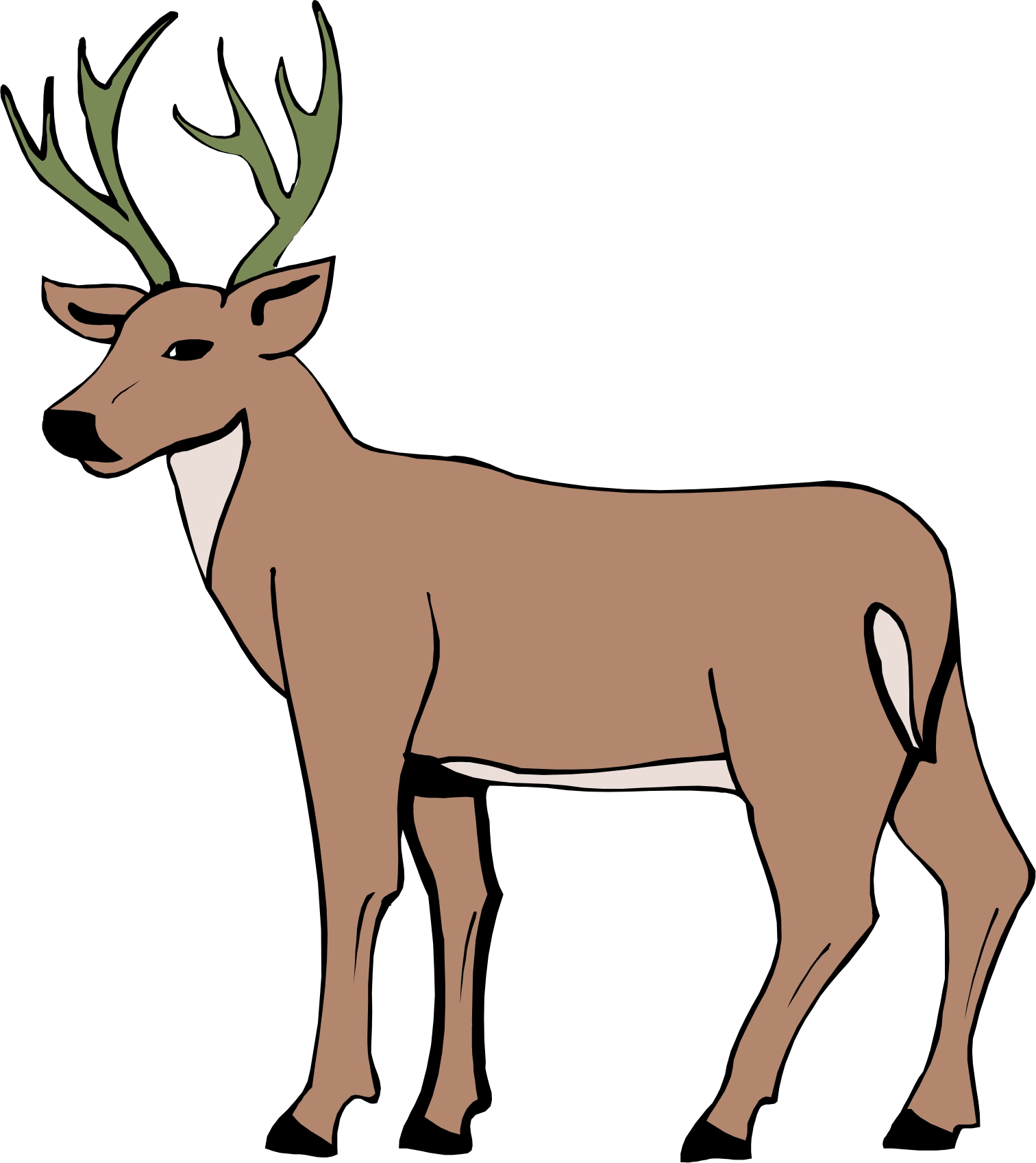 1512x1697 Cartoon Drawing Of A Deer Cartoon Deer Cartoon Deer Page 2