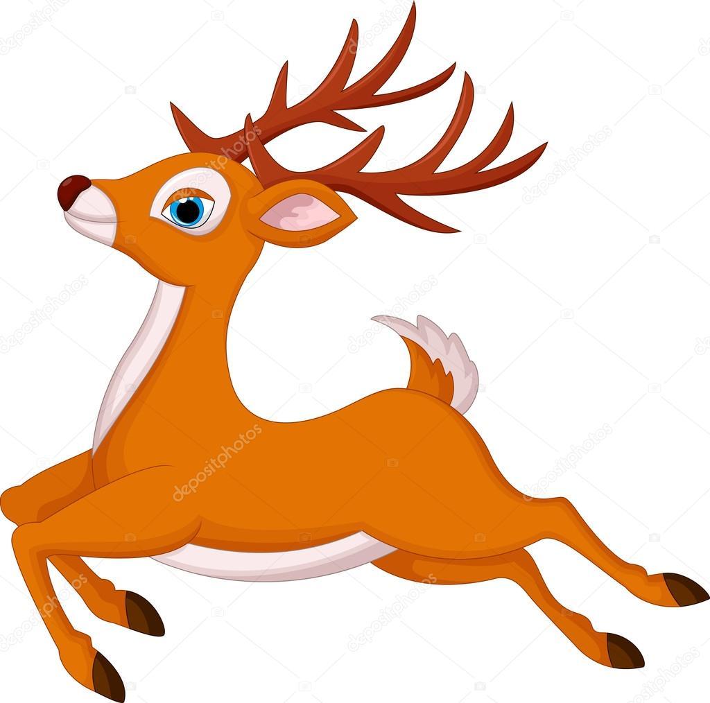 1024x1014 Cartoon Deer Running Stock Vector Tigatelu