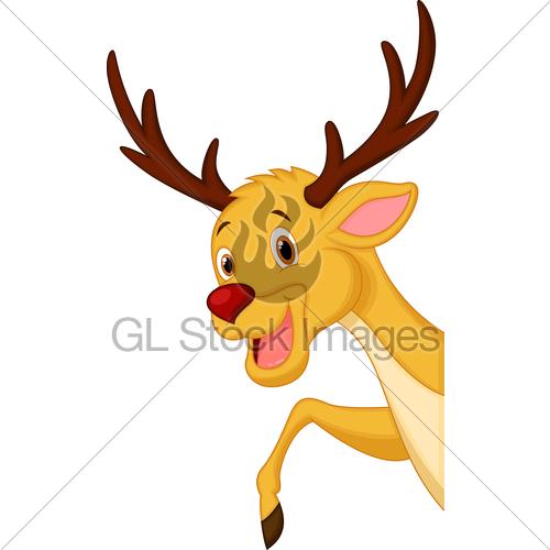 500x500 Cute Deer Head Cartoon Gl Stock Images