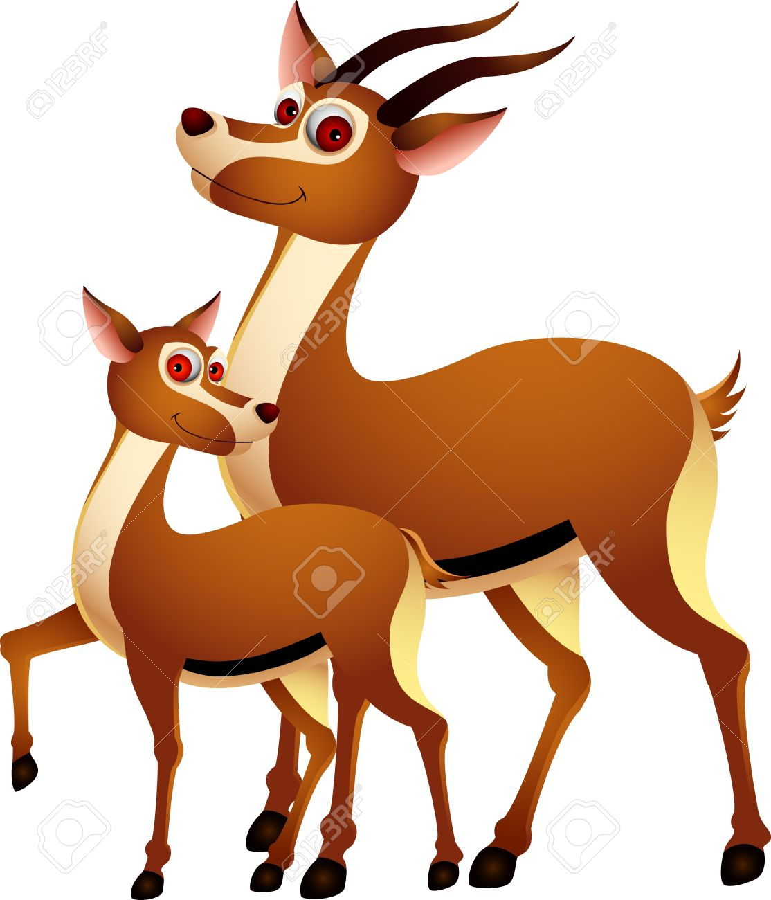 1114x1300 Adult Cartoons Funny Deer With His Son Royalty Free Cliparts
