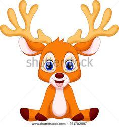 236x252 Cute Deer Cartoon Vector Insp. Art Animals Deer
