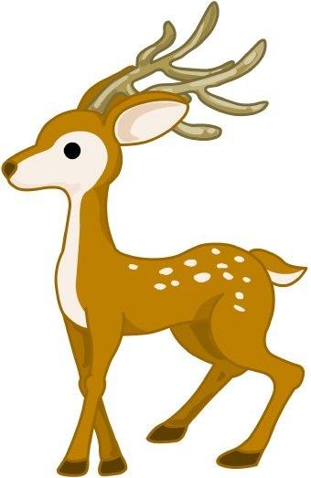 340x523 Cute Deer Cartoon Running Stock Vector Christmas Id 33490