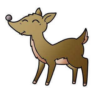 300x300 Deer Charging Side Cartoon Royalty Free Stock Image