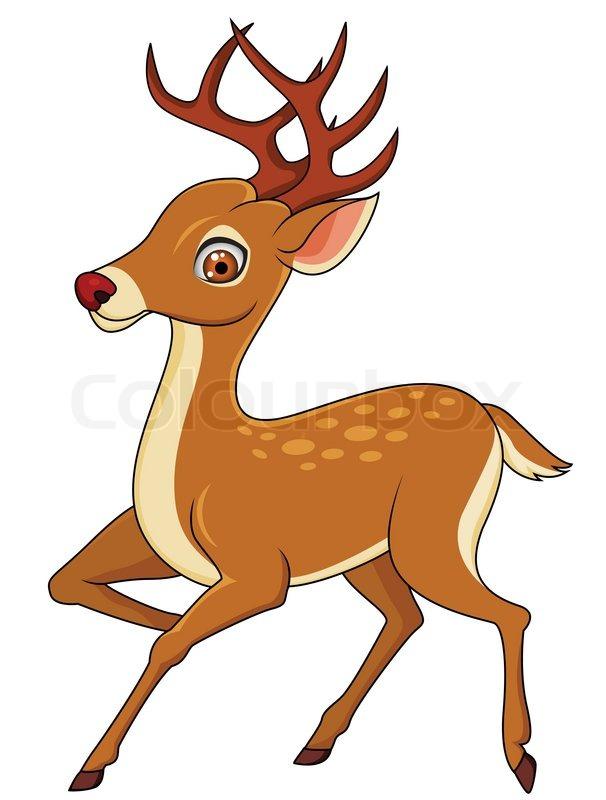 606x800 Deer Cartoon Isolated Stock Vector Colourbox
