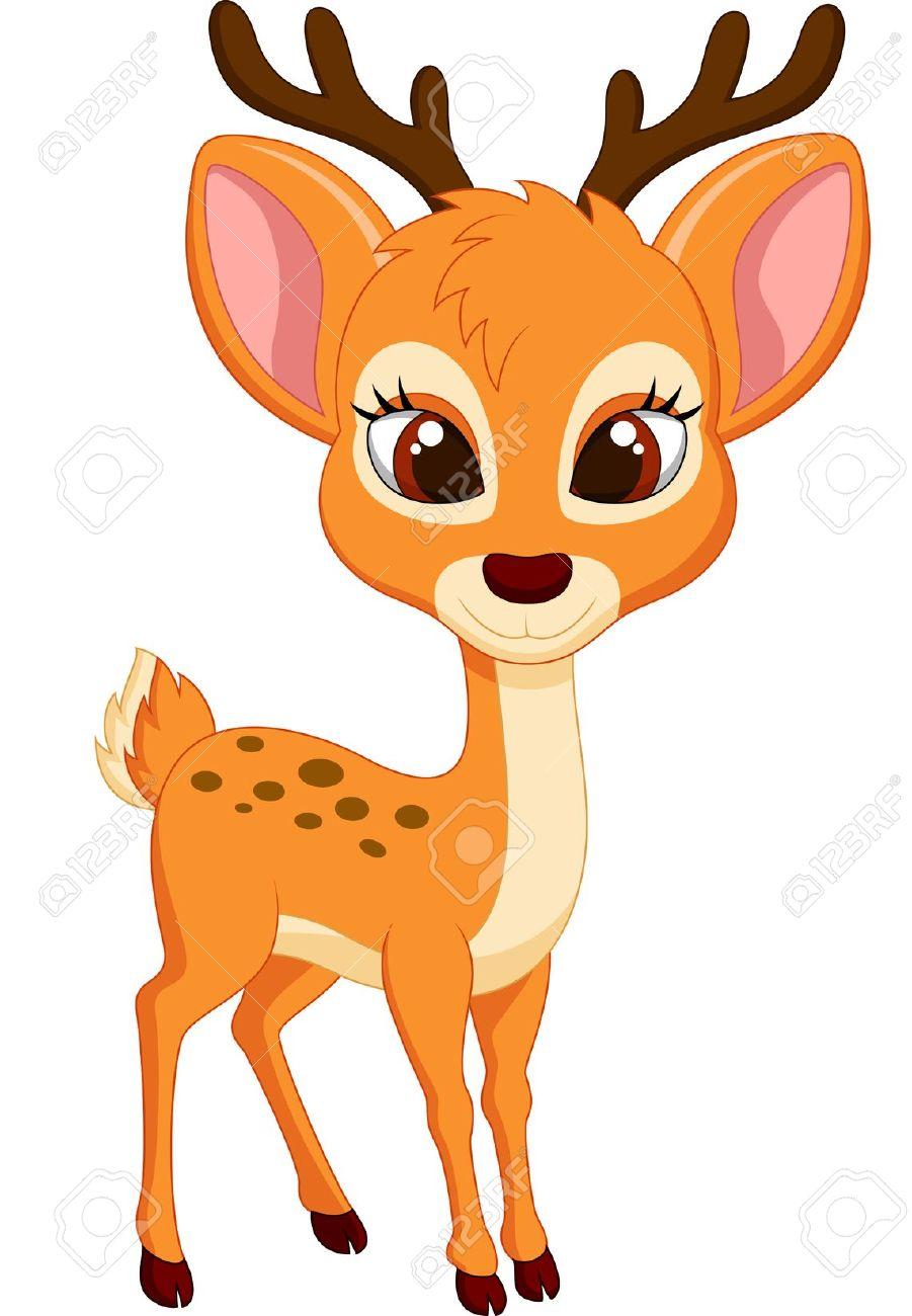 901x1300 Deer Clipart Cartoon