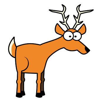 350x350 Deer Clipart Funny