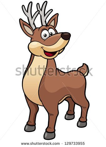 338x470 Best Deer Cartoon Ideas Animal Sketches