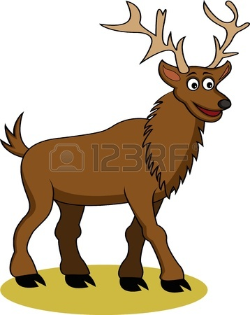 358x450 Funny Deer Cartoon Royalty Free Cliparts, Vectors, And Stock
