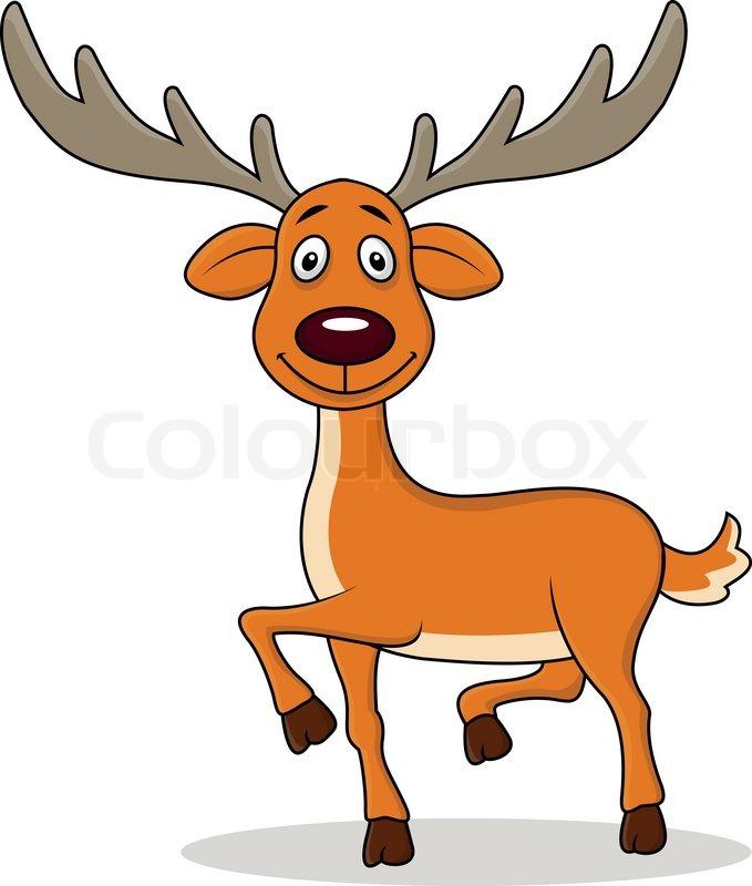 679x800 Vector Illustration Of Deer Cartoon Stock Vector Colourbox