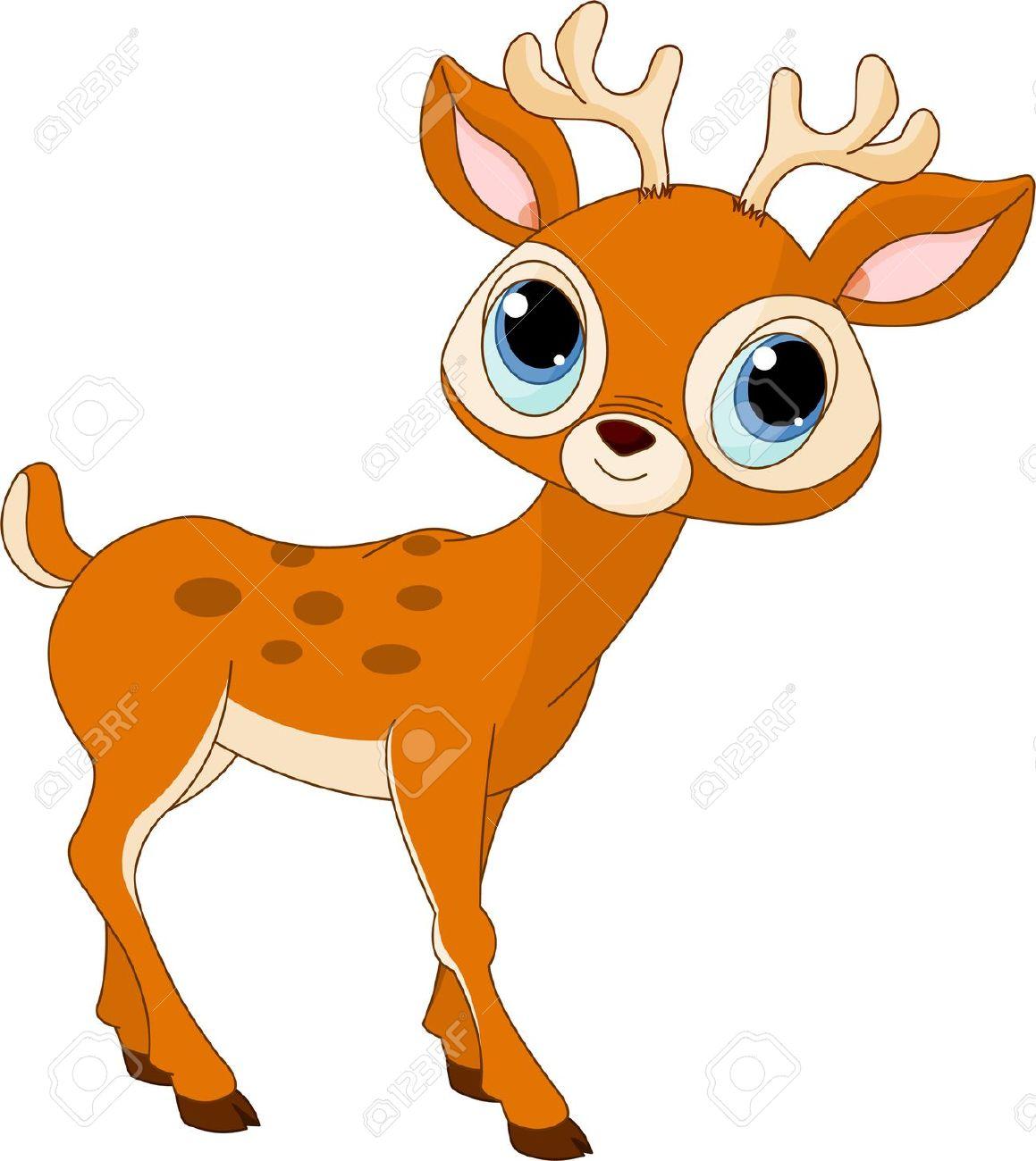 1159x1300 Of Beautiful Cartoon Deer Stock Vector Animals Id 32211 Clipart