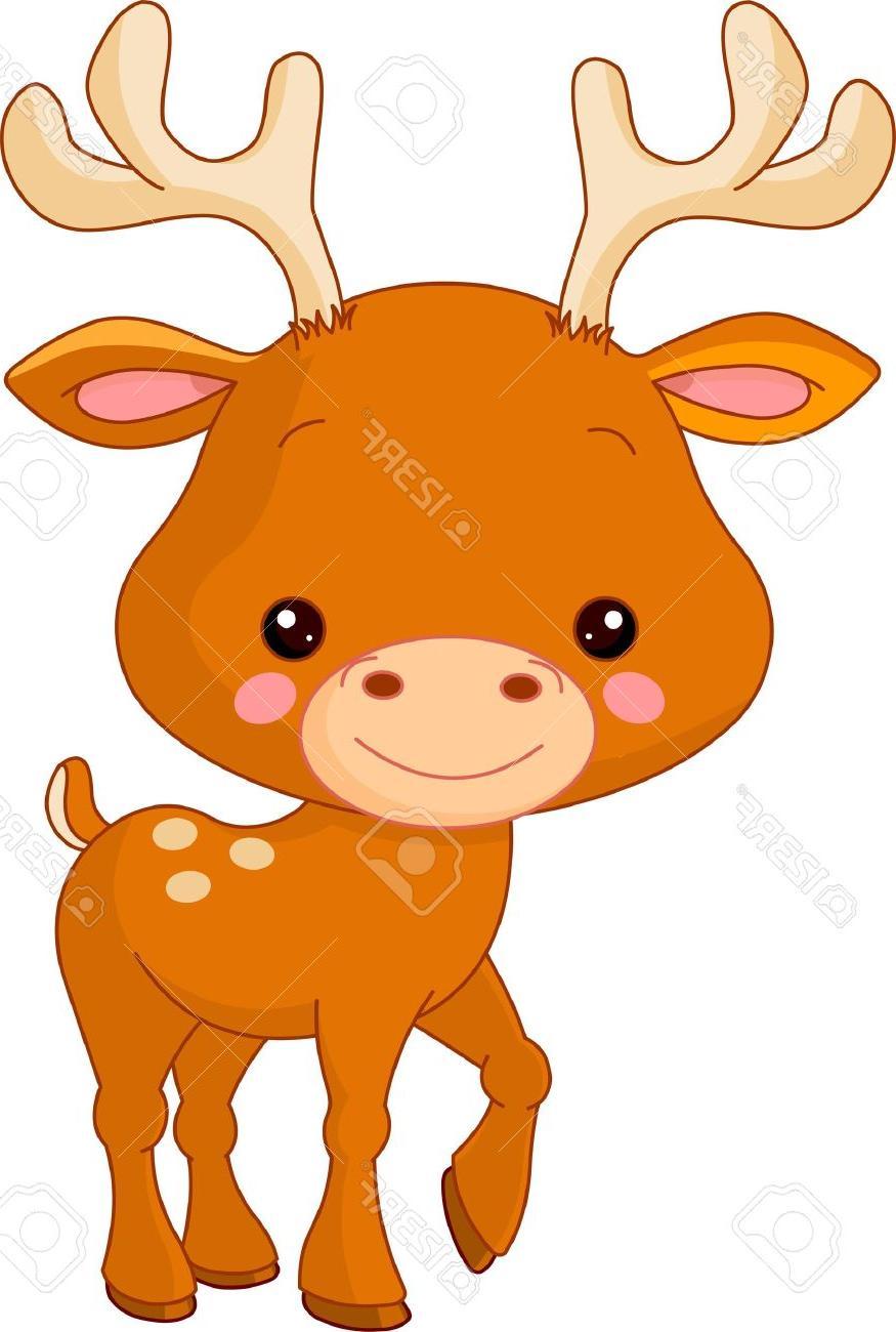 875x1300 Best Hd Fun Zoo Illustration Of Cute Deer Stock Vector Cartoon