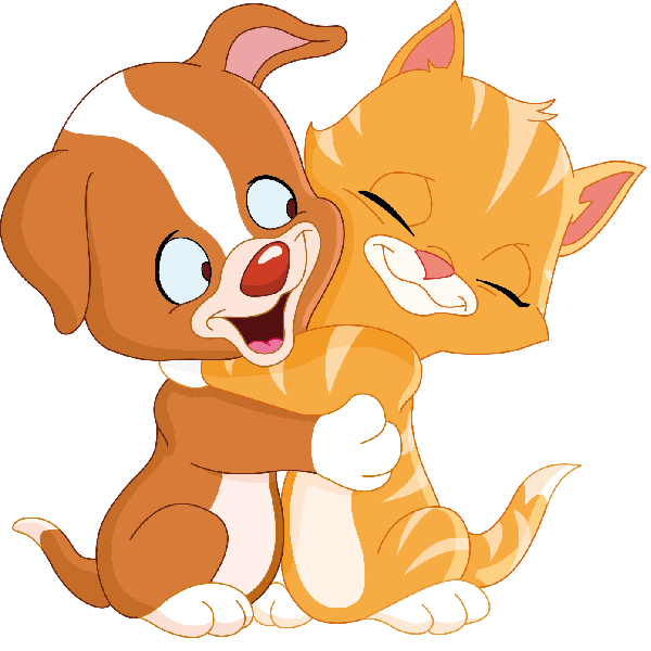 600x600 Hug Dog And Cat Clipart
