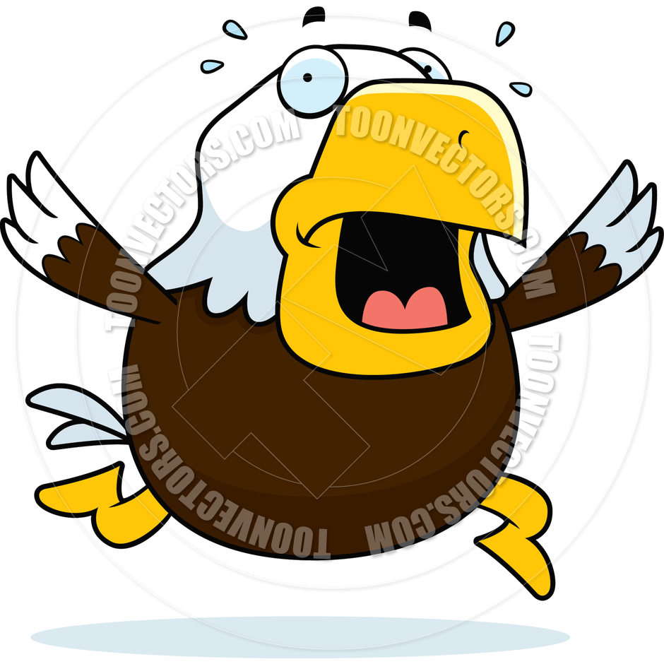 940x940 Cartoon Bald Eagle Panic By Cory Thoman Toon Vectors Eps
