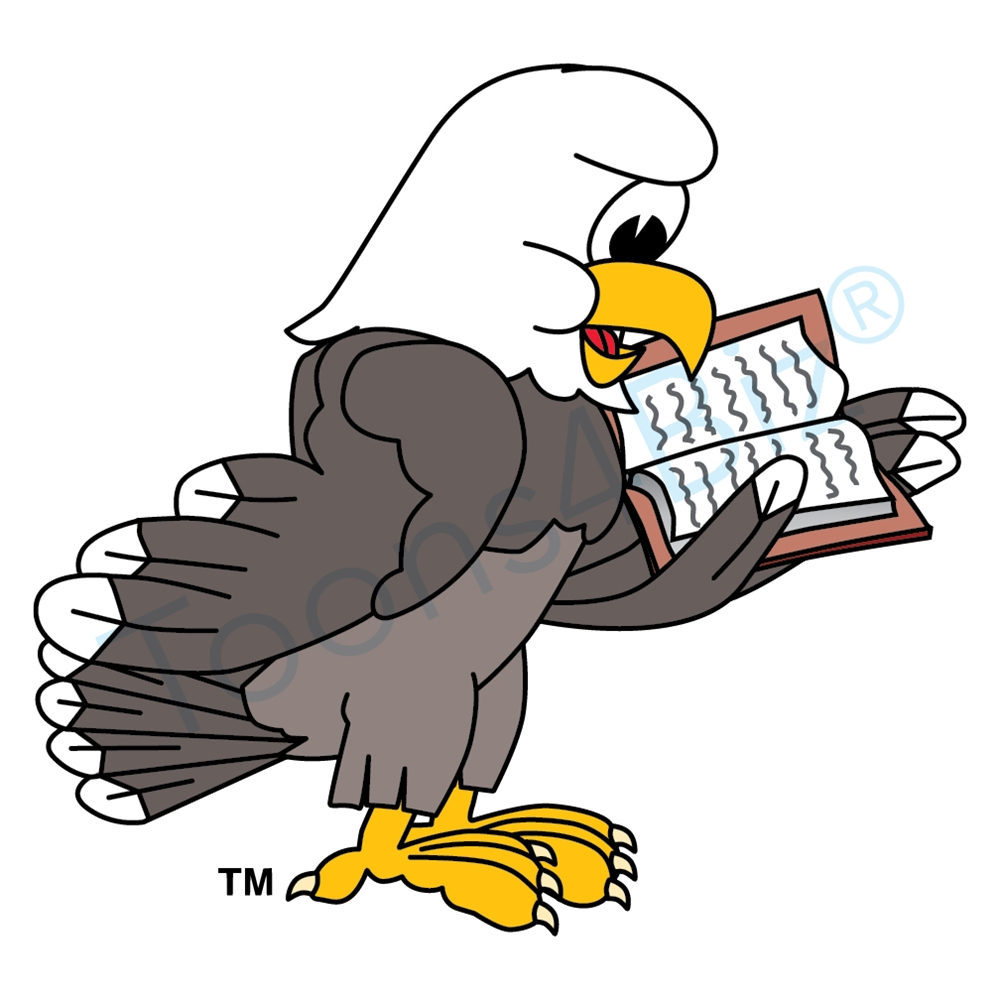 1000x1000 Clipart Of A Black And White Flying Bald Eagle Free 2