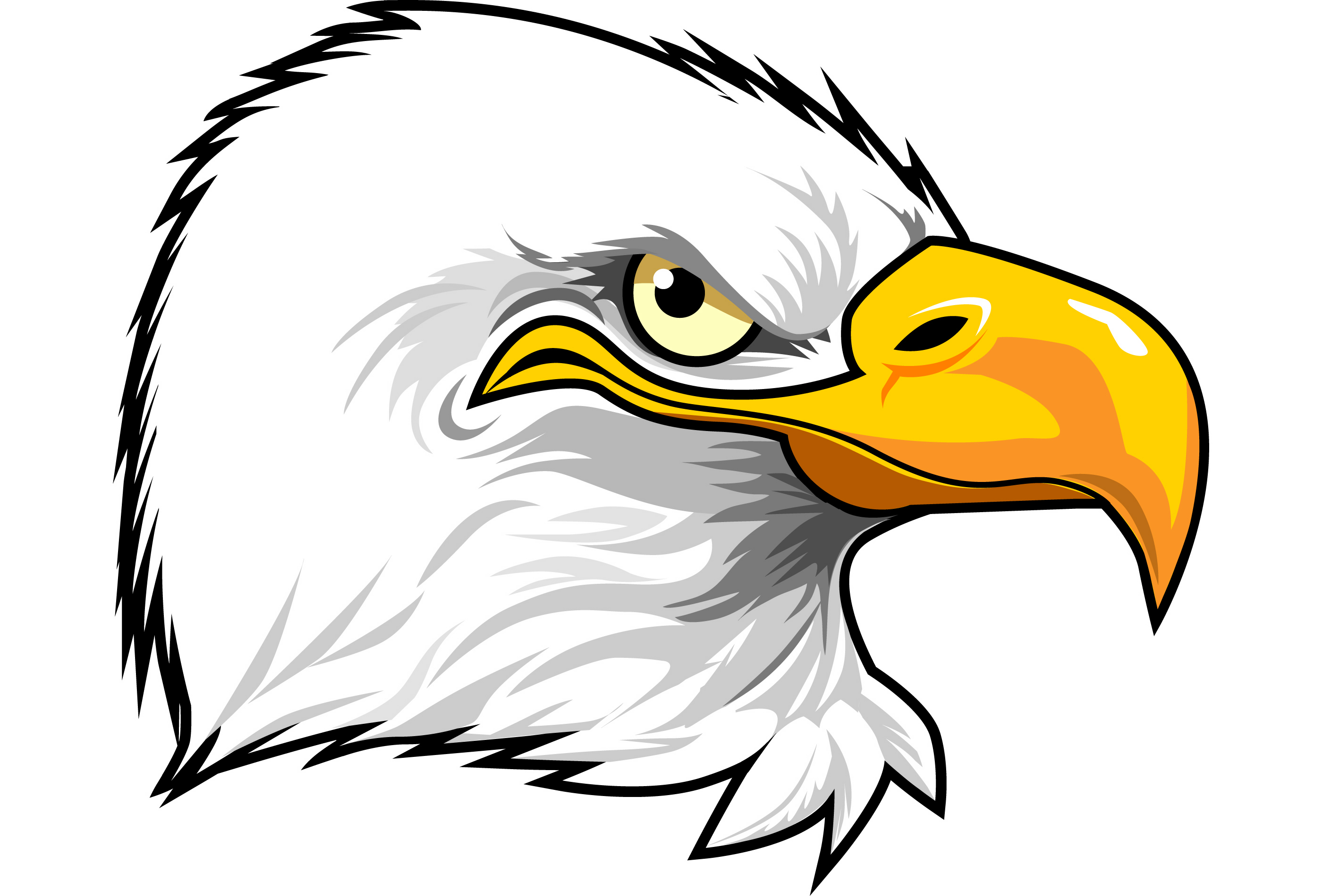 2800x1900 Head Cartoon Eagle Mascot Clipart