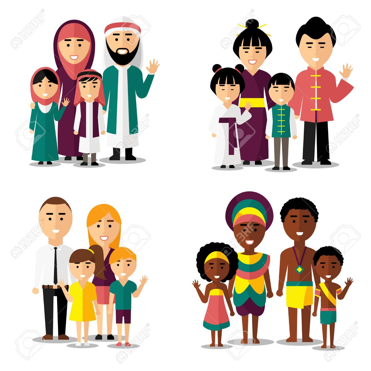 1299x1300 African, Asian, Arab And European Families. Family Asian, Family