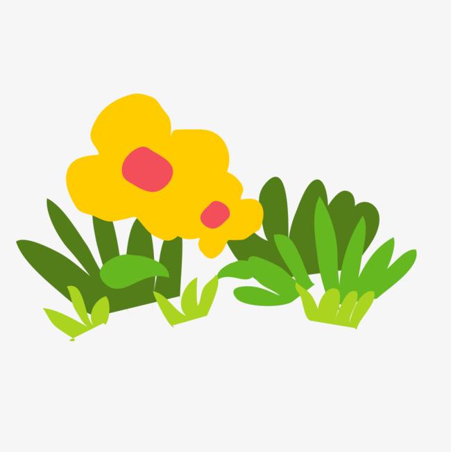650x651 Cartoon Grass Flowers, Cartoon, Grass Png Image For Free Download