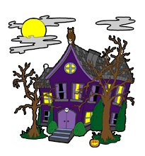 205x220 Halloween Cartoons Picture Of A Haunted House Fall Art